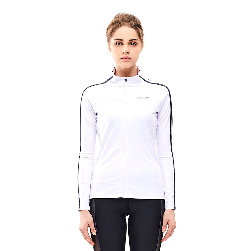 Women's Rash Guard Zip-up Heaven White