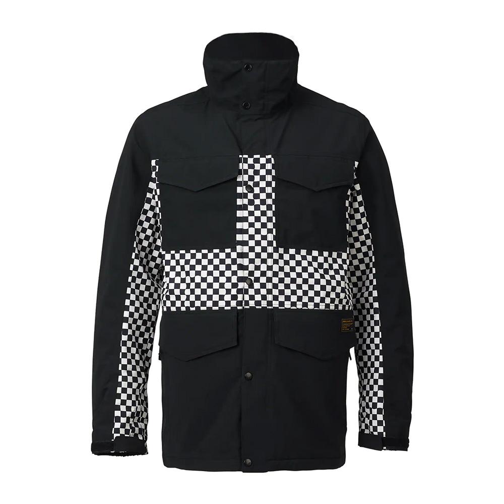 Burton 남성 아날로그 톨게이트 재킷 True Black / True Black Speed Check